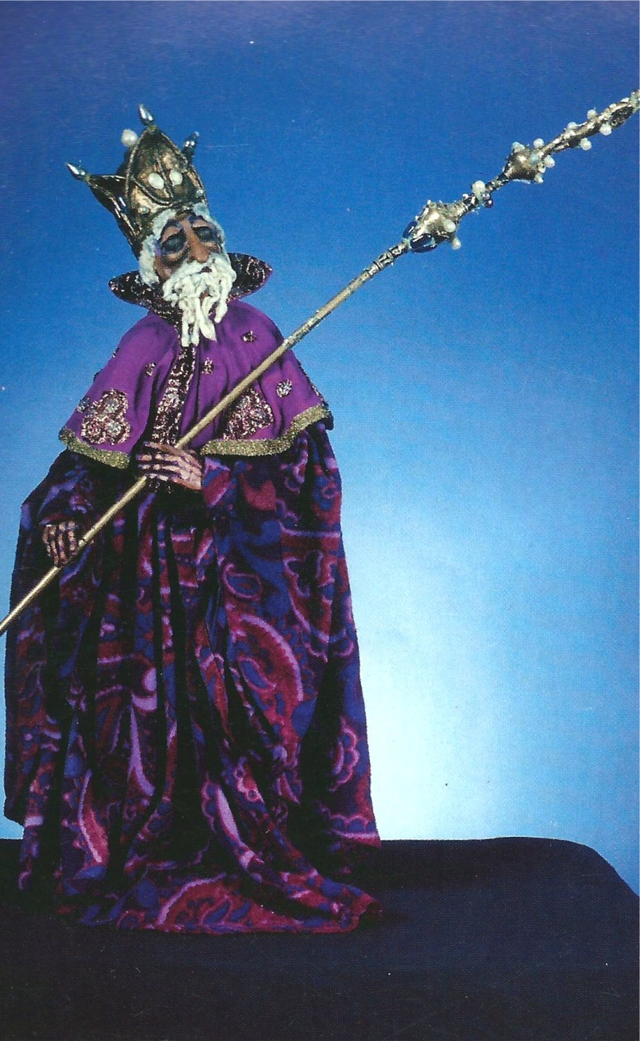 Imam, from <em><em>Ki</em>smet</em> (1975), design and direction: Frank Ballard for production at the University of Connecticut. Rod puppet. Photo courtesy of Ballard Institute and Museum of Puppetry at the University of Connecticut. Photo: Thomas A. Hoebbel