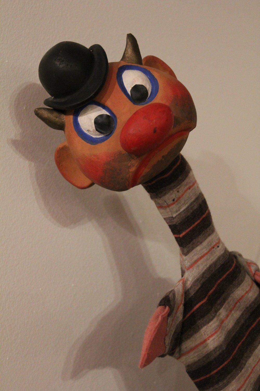 Gremlin, marionnette à gaine par le marionnettiste américain Bil Baird, vers 1950. Photo réproduite avec l'aimable autorisation de Collection : The Cook / Marks Collection, Northwest Puppet Center (Seattle, Washington, États-Unis). Photo: Dmitri Carter