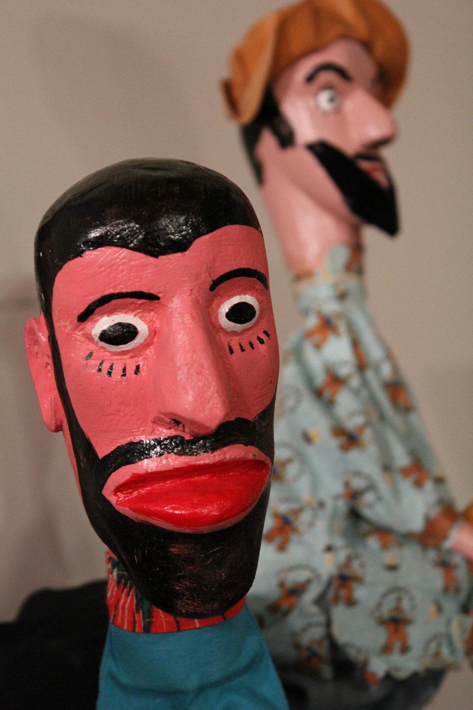 Marionnettes à gaine de la tradition <em>mamulengo</em> du Brésil, vers 1980. The Cook / Marks Collection, Northwest Puppet Center. Photo: Dmitri Carter
