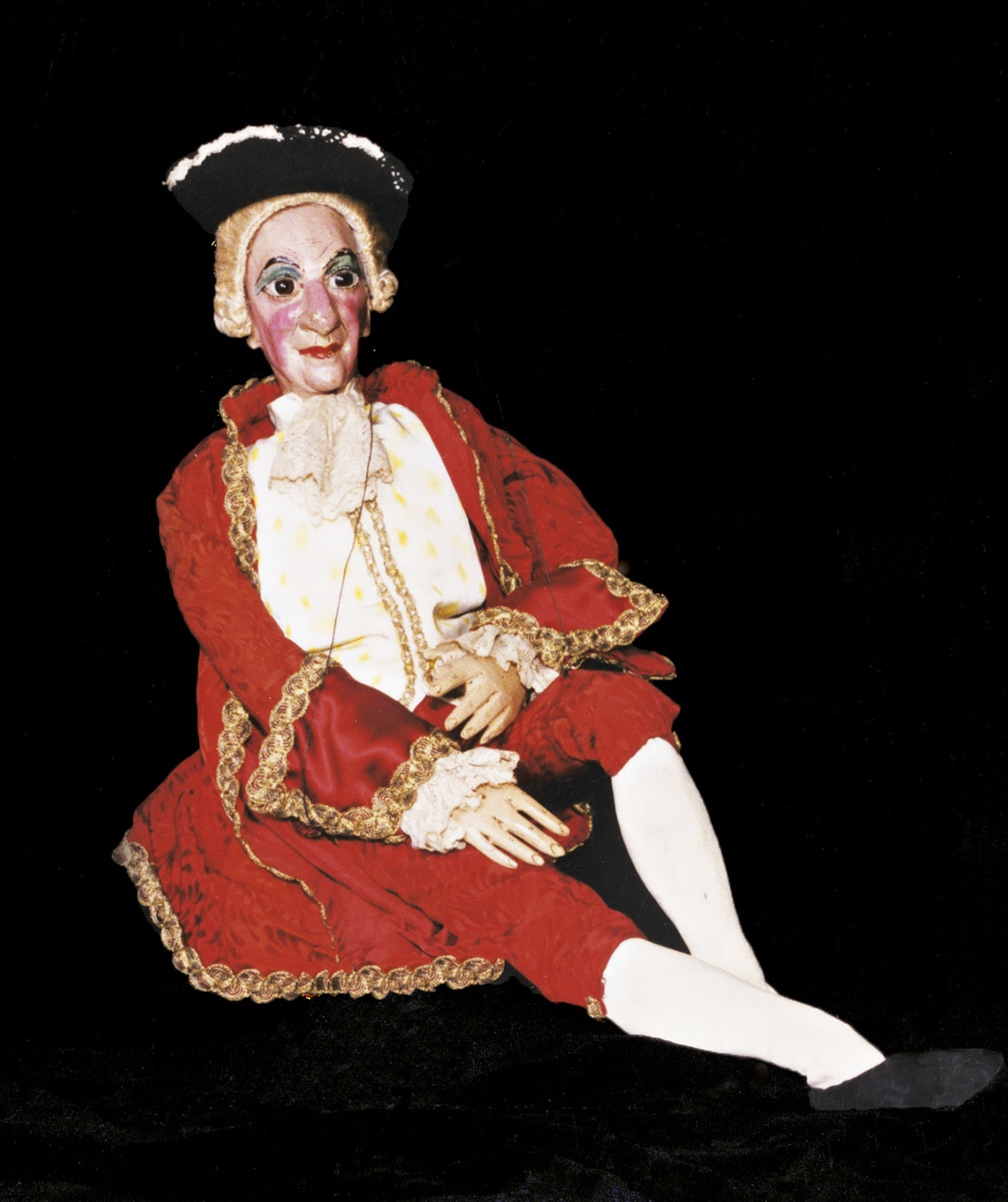 Cassandrino, puppet theatre character created by Filippo Teoli (first half of 19th century), based on the Cassandro mask of the commedia dell'arte. String puppet. Collezione Maria Signorelli. Photo: Maristella Campolunghi and Teresa Bianchi