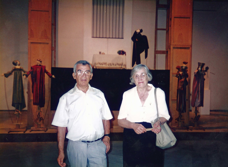 Francisco Peralta et Matilde del Amo devant son spectacle El Romance de la Condesita, d'après le poème anonyme populaire. Photo: Nati Cuevas Zugazagoitia