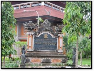 ISI Denpasar (Institut Seni Indonesia, Indonesian Arts Institute, Denpasar), Jl. Nusa Indah, Sumerta, Denpasar, Bali 80235, Indonesia. Photo courtesy of UNIMA-Indonesia