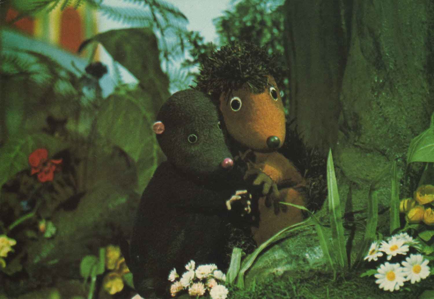 <em>Mo and Hedge</em> (années 1970), une production de la BBC créée par Playboard Puppets. Photo réproduite avec l'aimable autorisation de Ian Allen, Playboard Puppets