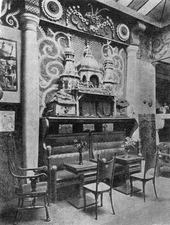 Le cabaret polonais artistique et littéraire, Zielony Balonik (1911, Cracovie, Pologne), célèbre pour sa « szopka satirique ». Photo tirée du livre, J. P. Gawlik, <em>Powrót do Jamy</em>, WAG, Cracovie, 1961