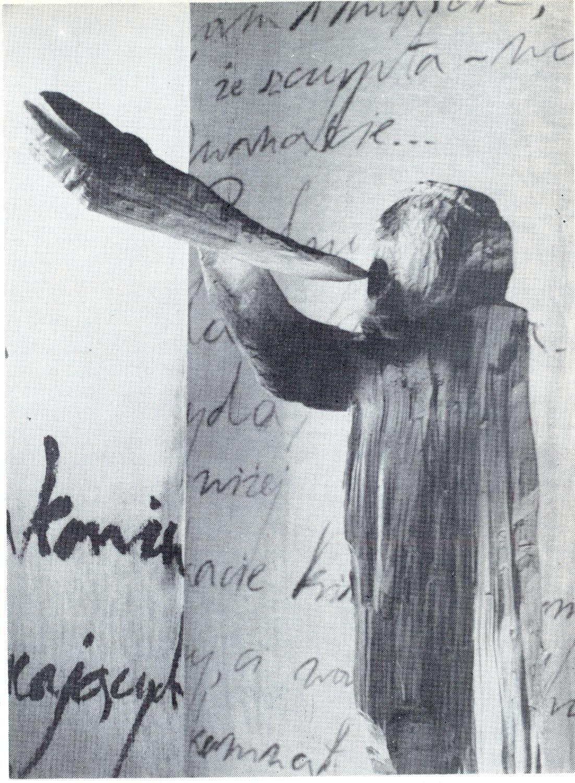 <em>Wanda</em> (1970) de Cyprian Kamil Norwid, réalisé par Teatr Lalki i Aktora Marcinek (Poznań, Pologne), mise en scène : Wojciech Wieczorkiewicz, scénographie : Leokadia Serafinowicz. Collection : Henryk Jurkowski