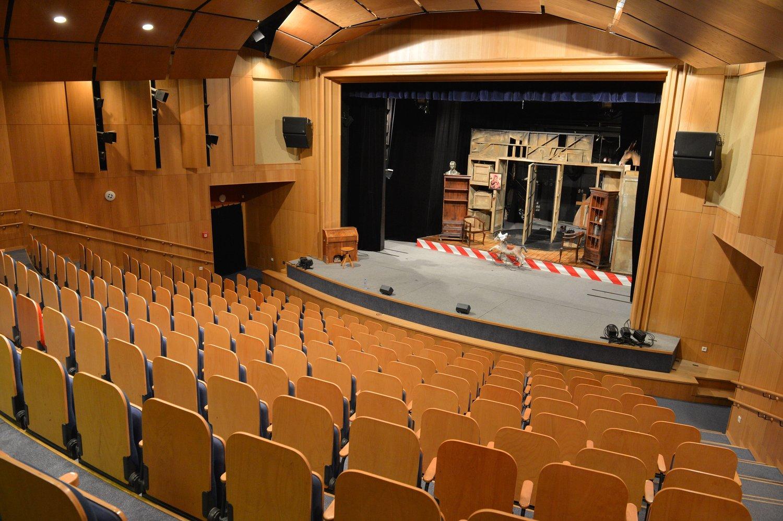 Interior de Divadlo Radost (Brno, República Checa), auditorio de teatro. Foto: Jef Kratochvil © Radost