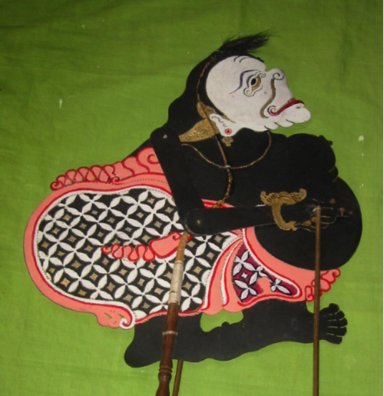Semar, une figurine d'ombre de Banjar, <em>wayang</em> kulit Banjar, Kalimantan Sud, Indonésie. Photo: Karen Smith