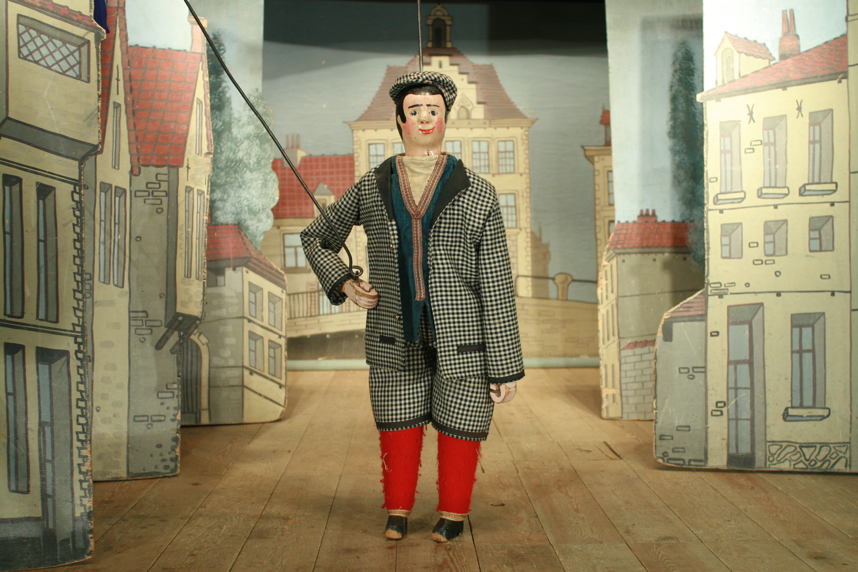 "Woltje, the ""ketje"" of Brussels, the mascot of the Théâtre Royal de Toone (Brussels, Belgium). Rod marionette. Photo: Nicolas Géal"