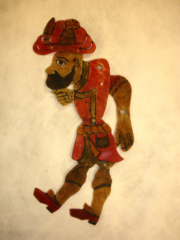 Karagöz (vers 1900-1930), un personnage principal du théâtre d'ombres turc, karagöz. Collection : Patterson Museum, Claremont, Californie, États-Unis. Photo: Carol Gil