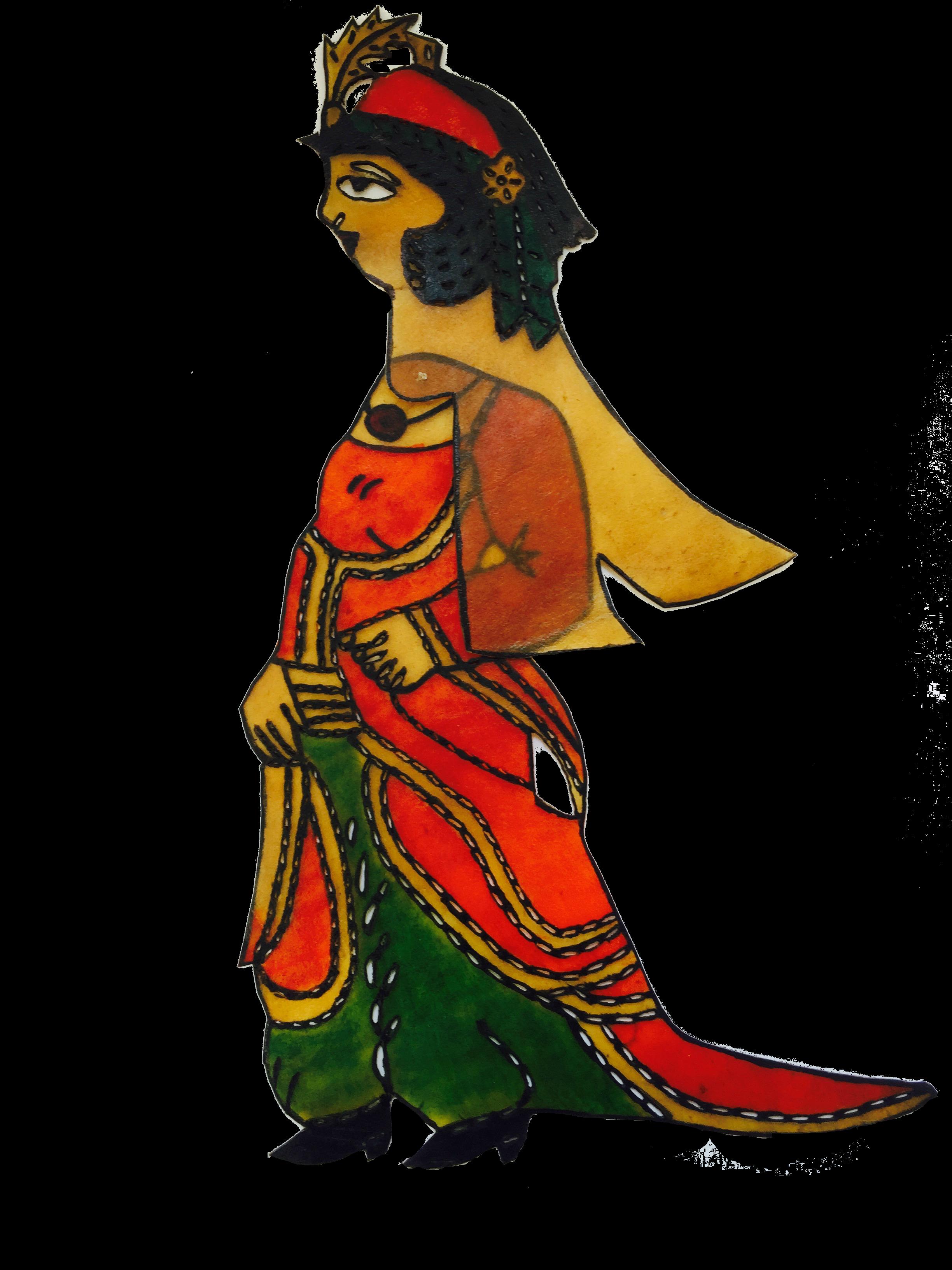 Zenne, une marionnette d'ombre karagöz de Vural Arisoy. Photo réproduite avec l'aimable autorisation de UNIMA Turkey (UNIMA Turkiye)