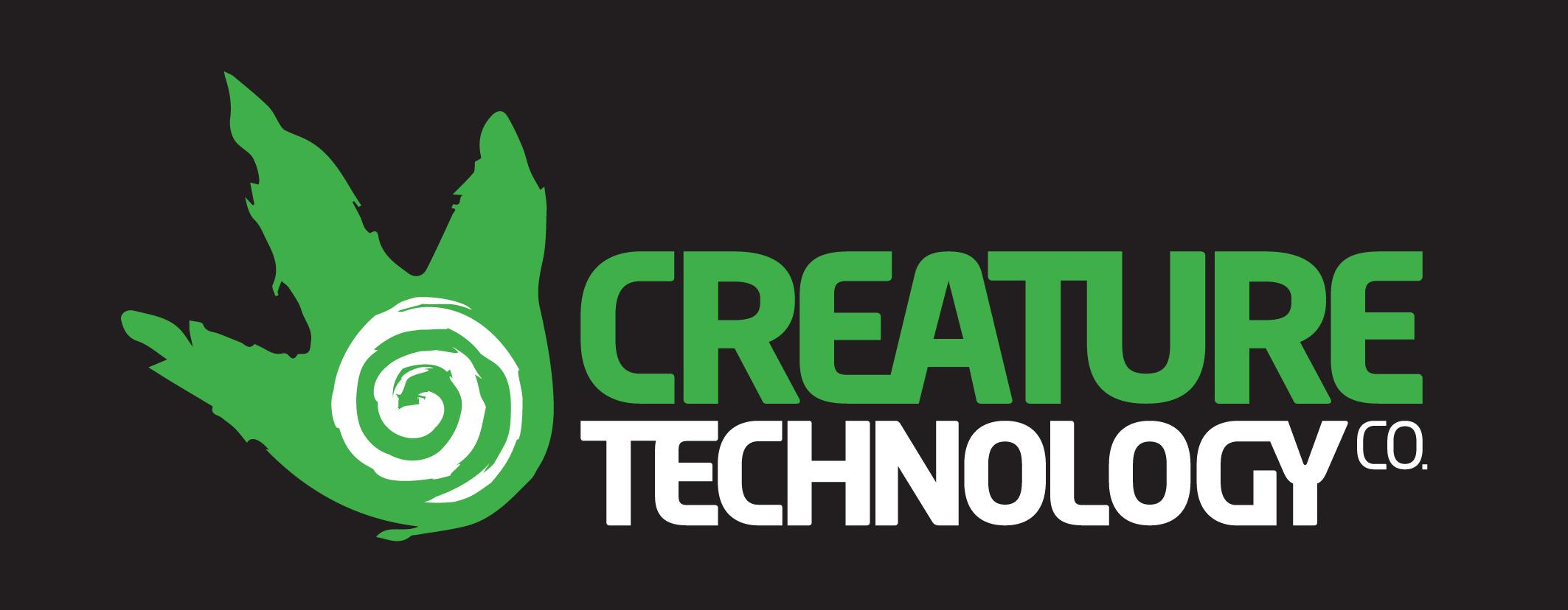 Logo (sur fond noir), Creature Te<em>c</em>hnology Co. (West Melbourne, Vi<em>c</em>toria, Australie)