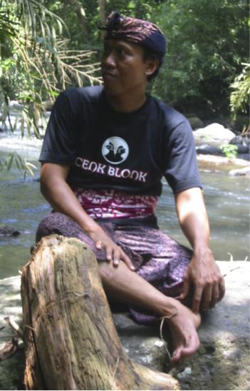 Le <em>dalang</em> balinais, I Wayan Nardayana, dit Cenk Blonk. Photo: Karen Smith