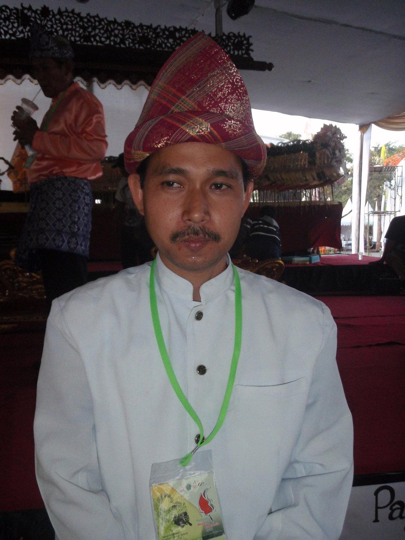 Un jeune <em>dalang</em> de <em>Wayang Palembang</em> (Palembang, Sumatra du Sud, Indonésie). Photo: Karen Smith