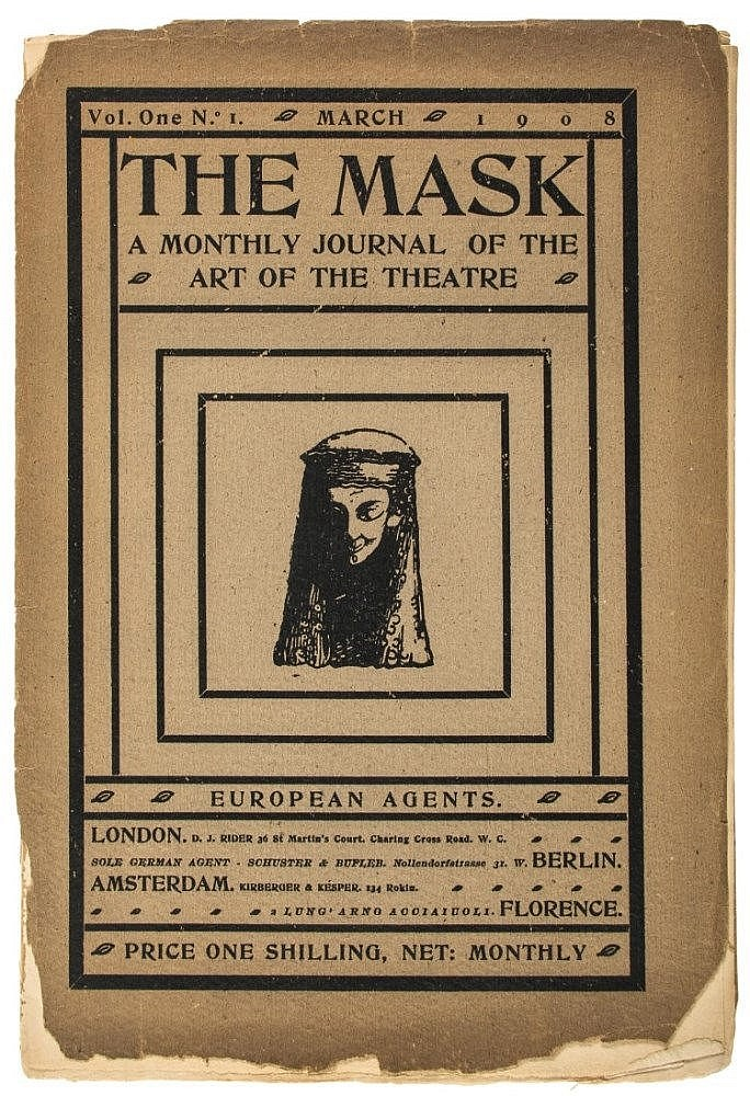 Une <em>c</em>ouverture pour <em>The Mask</em> (1908). Photo réproduite avec l'aimable autorisation de The National Puppetry Archive