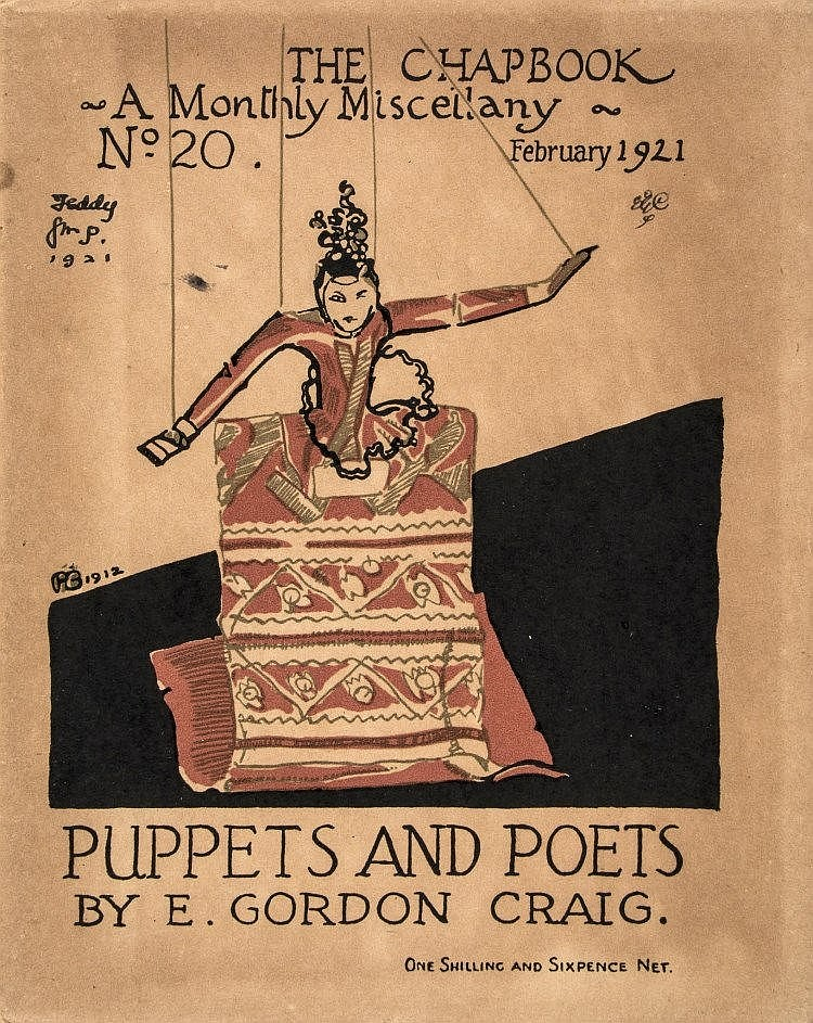 Une <em>c</em>ouverture pour <em>Puppets and Poets</em> (1921). Photo réproduite avec l'aimable autorisation de The National Puppetry Archive