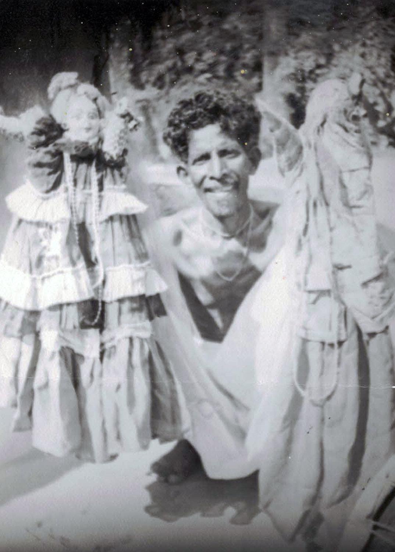 <em>Benir putul</em>, les marionnettes à gaine du Bengale o<em>c</em><em>c</em>idental, en Inde. Photo réproduite avec l'aimable autorisation de Sampa Ghosh