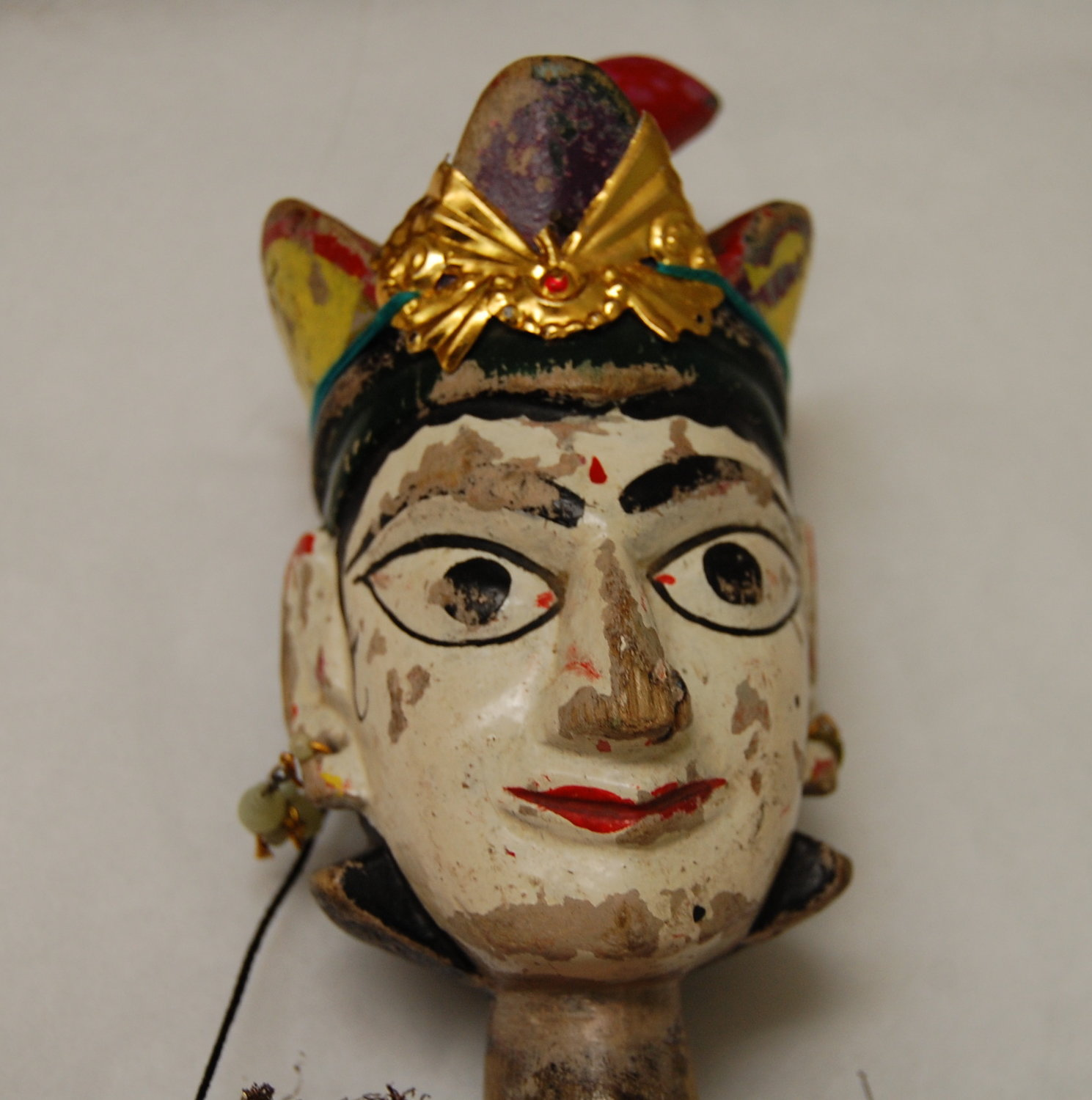 Un détail, Anarkali, la danseuse, une marionnette à fils, <em>kathputli</em>, du Rajasthan, en Inde, hauteur : 60 <em>c</em>m. Colle<em>c</em>tion : Center for Puppetry Arts (Atlanta, Géorgie, États-Unis). Photo réproduite avec l'aimable autorisation de Center for Puppetry Arts