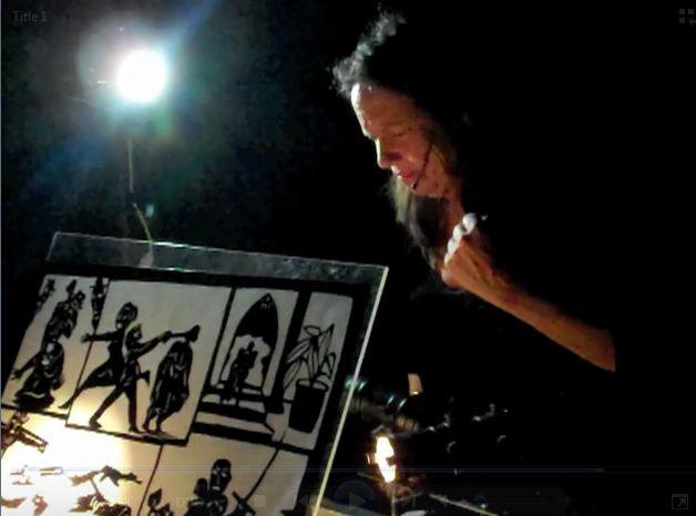 Le théâtre d'ombres par Patri<em>c</em>ia O'Donovan. Photo réproduite avec l'aimable autorisation de Patricia O'Donovan