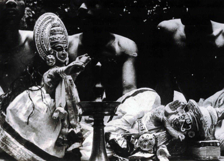 Pava<em>kathakali</em>, les marionnettes à gaine du Kerala, en Inde. Photo réproduite avec l'aimable autorisation de Sampa Ghosh