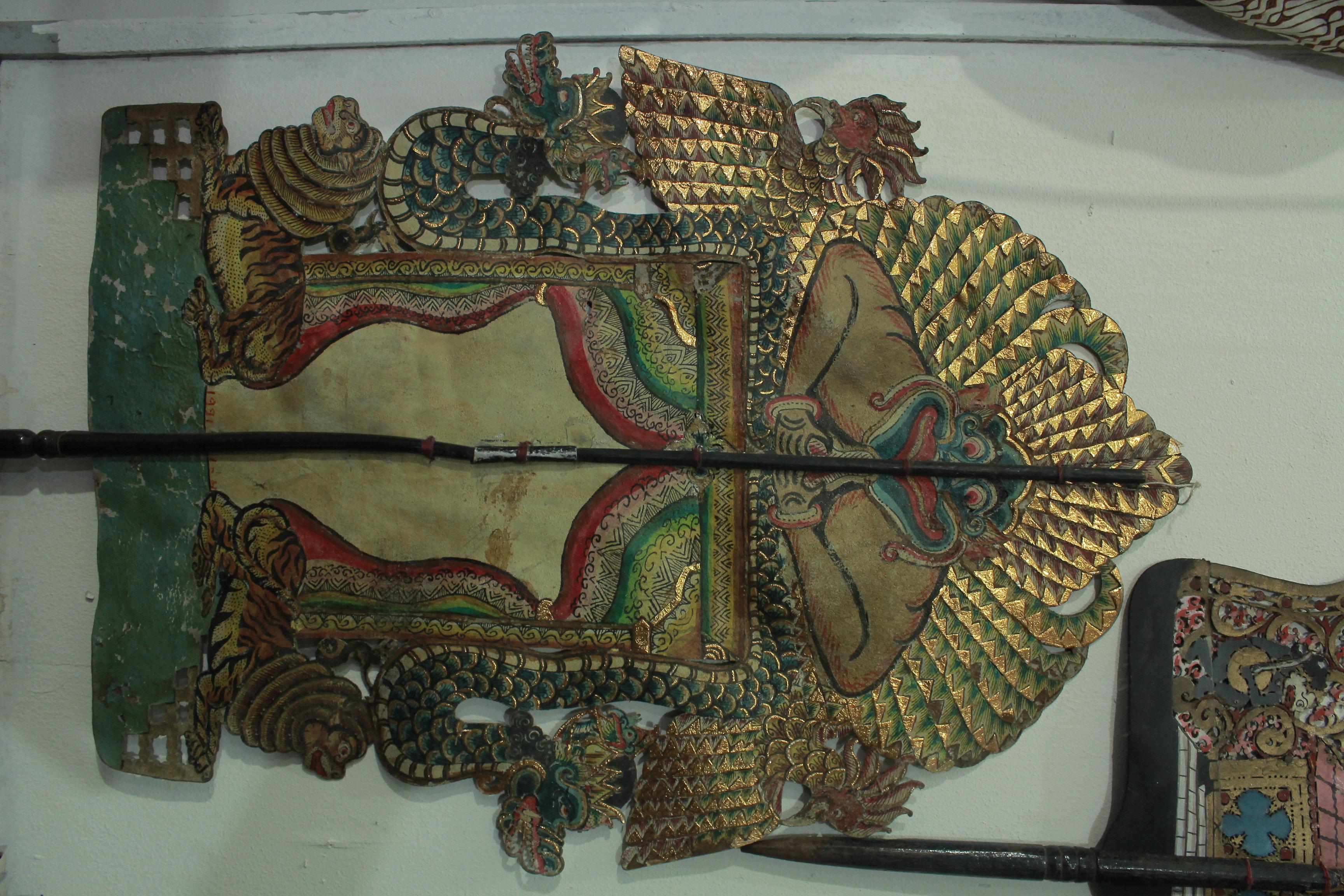 Un <em>kayon</em> pour le wayang menak (Java, Indonésie), un cycle d'histoires relatant les aventures d'Amir Hamzah, l'oncle du Prophète Muhammad. Collection : Tizar Purbaya.