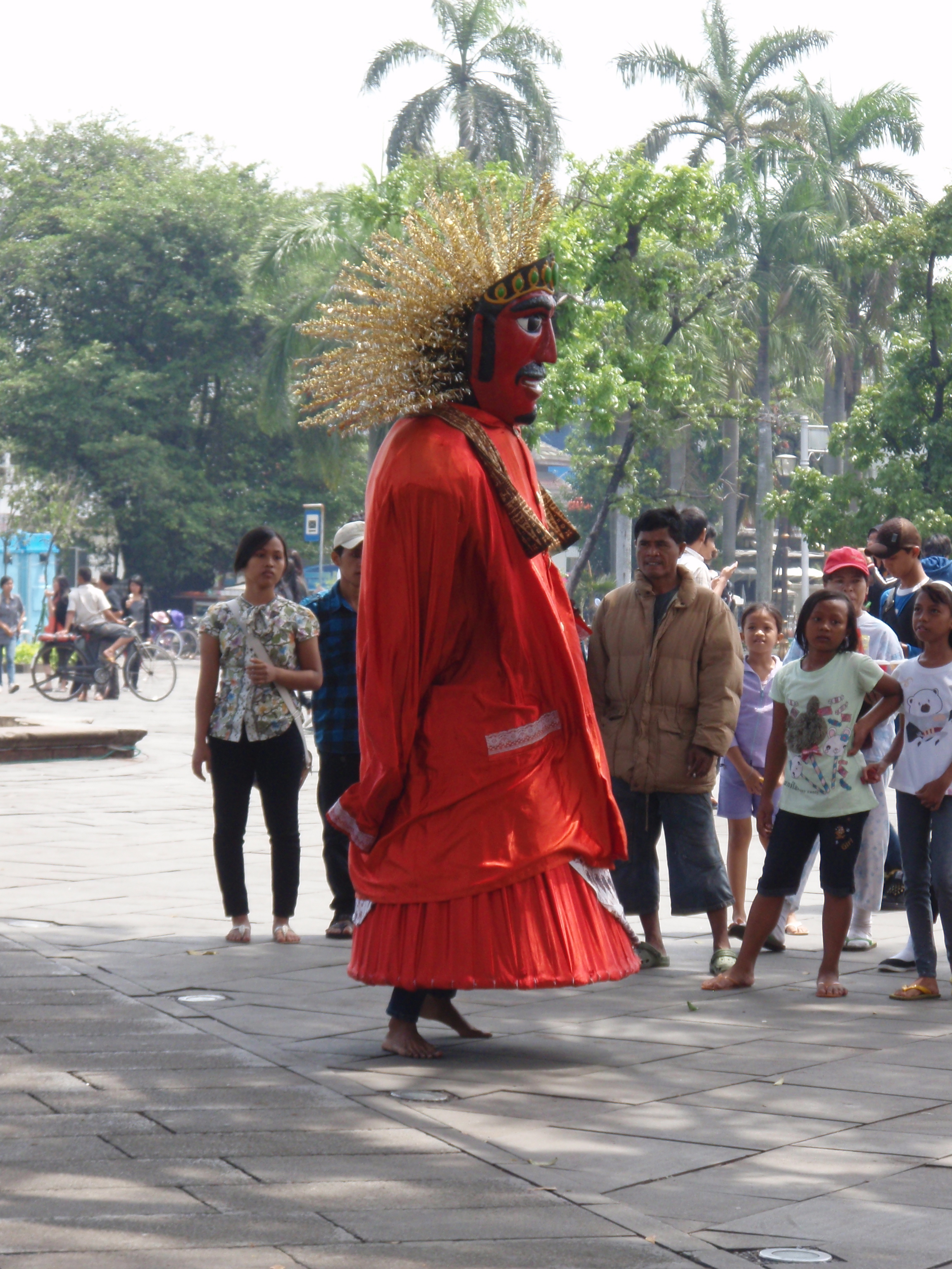 Ondel-ondel, Jakarta, Indonésie.