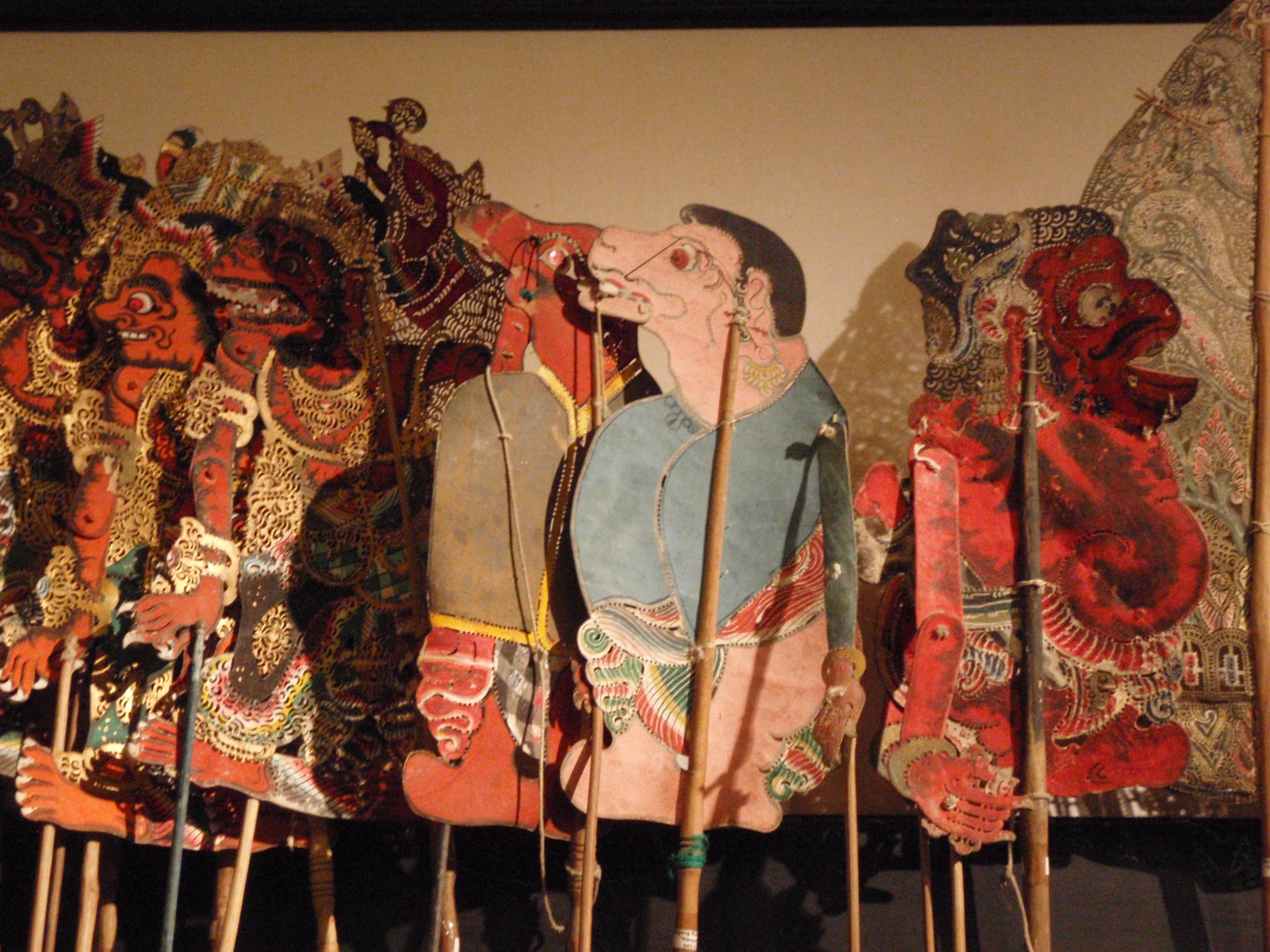 Wayang <em>kulit</em> Ramayana (Bali), créateur de wayang : Jro Dalang Diah Naga (Naga Sepaha, Singaraja, Bali). Collection : Setia Darma House of Masks and Puppets, Gianyar, Bali, Indonésie.