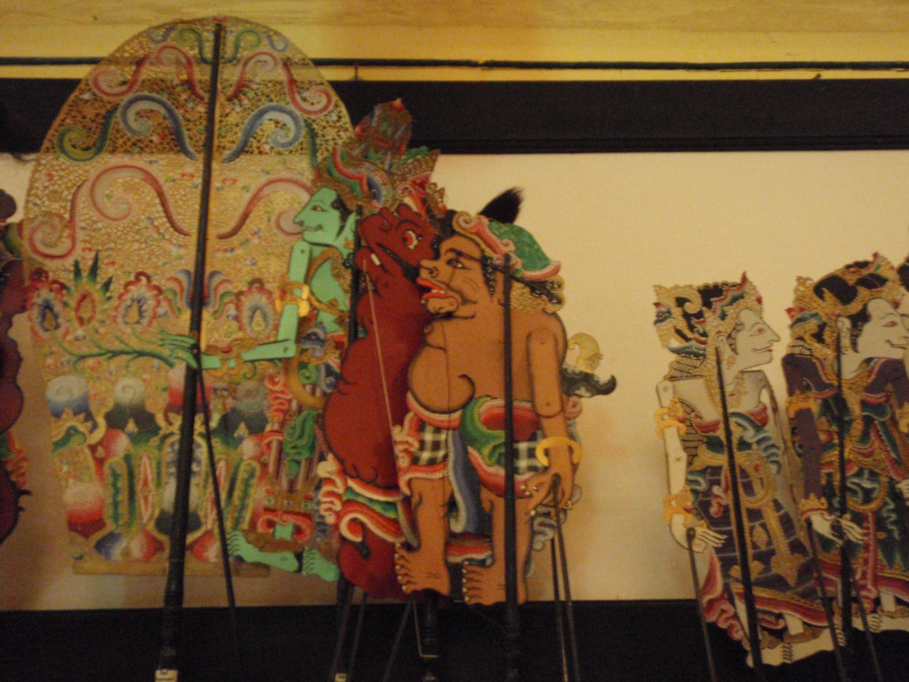 Wayang <em>kulit</em> Ramayana (Bali), créateur de wayang : I Made Sidja (Bone, Gianyar, Bali). Collection : Setia Darma House of Masks and Puppets, Gianyar, Bali, Indonésie.