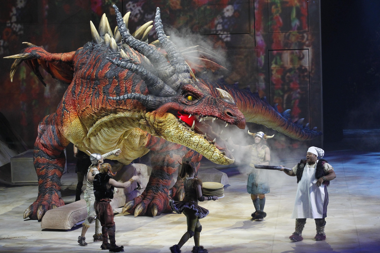 Nightmare par Creature Technology Co. (West Melbourne, Victoria, Australie), dans How To Train Your Dragon – The Arena Spectacular (2012), mise en scène : Nigel Jamieson, conception de marionnettes : CTC, directeur des marionnettes : Peter J. Wilson
