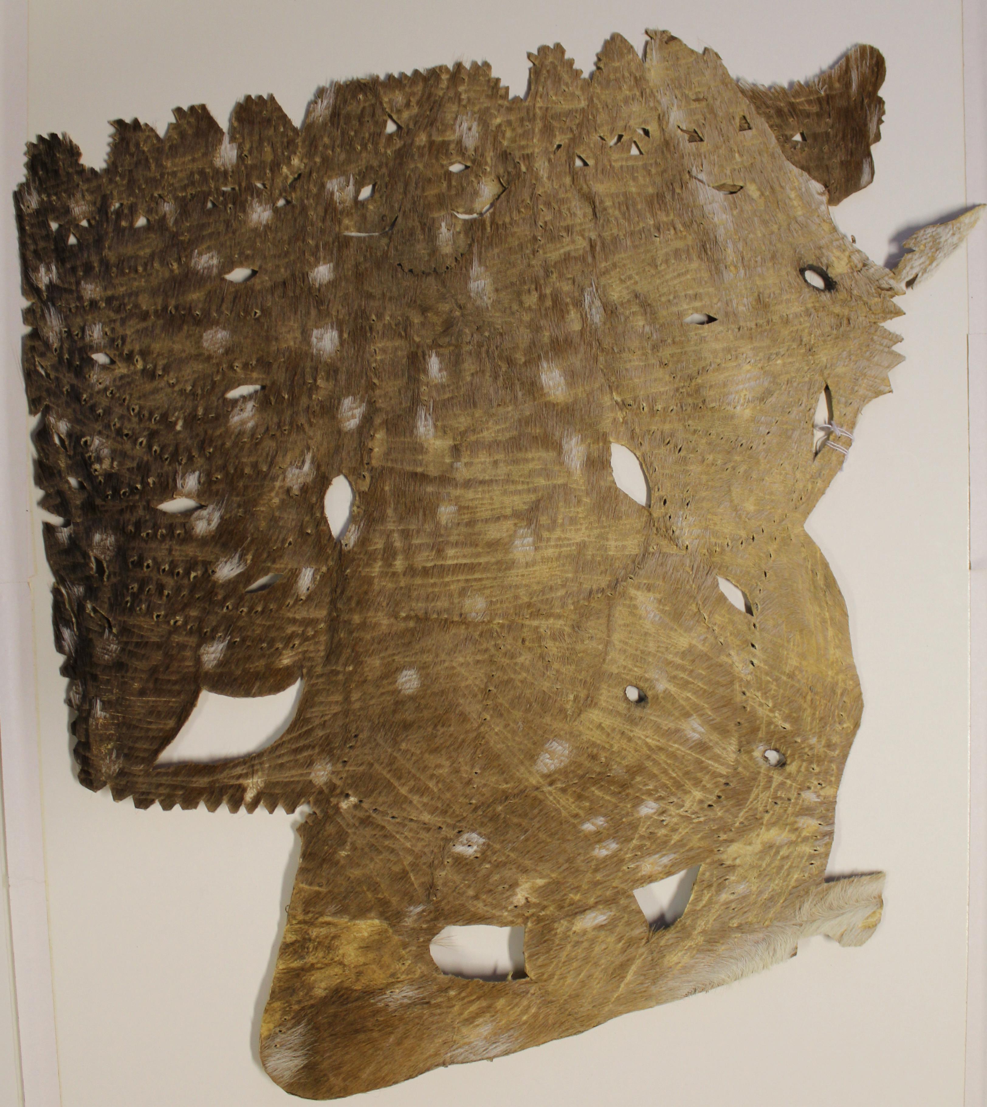 Le personnage de Râvana faite de peau de cerf de la ravanachhaya, théâtre d'ombres traditionnel de Odisha (anciennement connu sous le nom de l'<em>Or</em>issa), vers 1940. The Cook / Marks Collection, Northwest Puppet Center